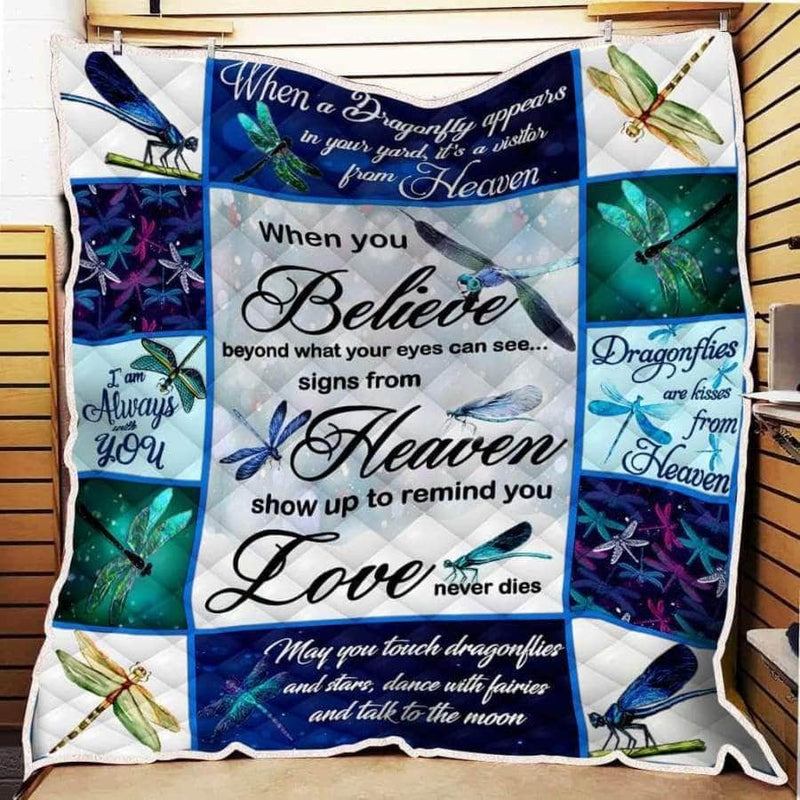 Dragonfly When You Believe Quilt