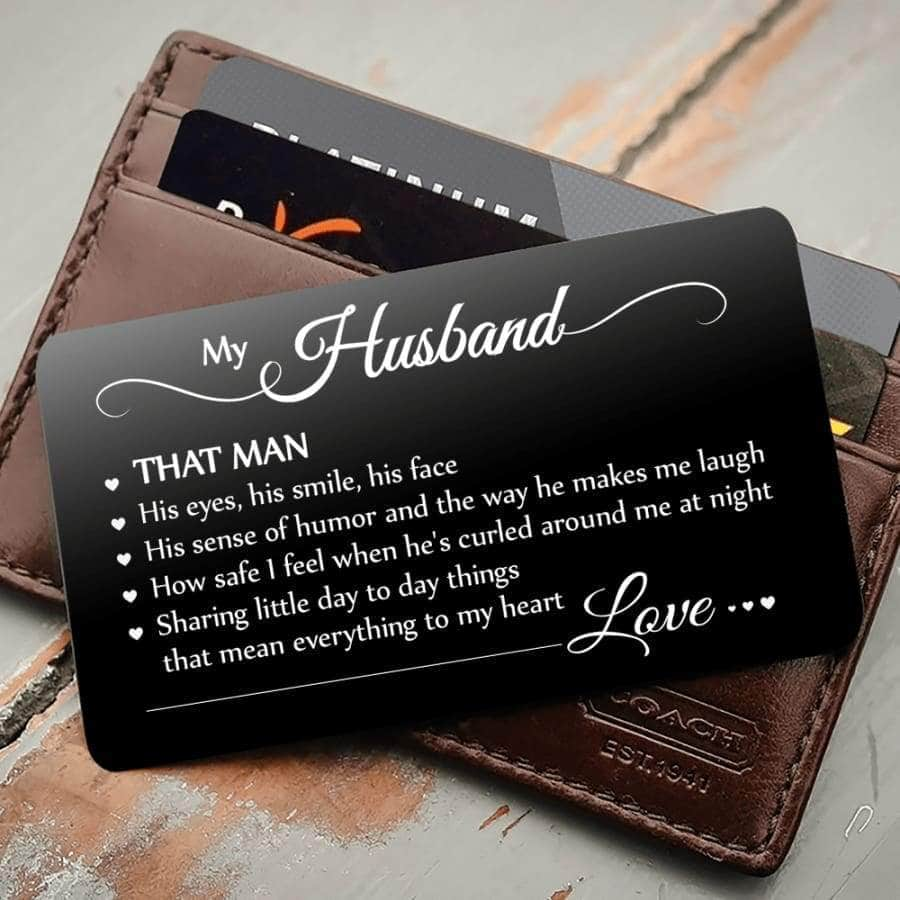 ENGRAVED BLACK WALLET INSERT CARD- MY BOY - I LOVE YOU - X5427