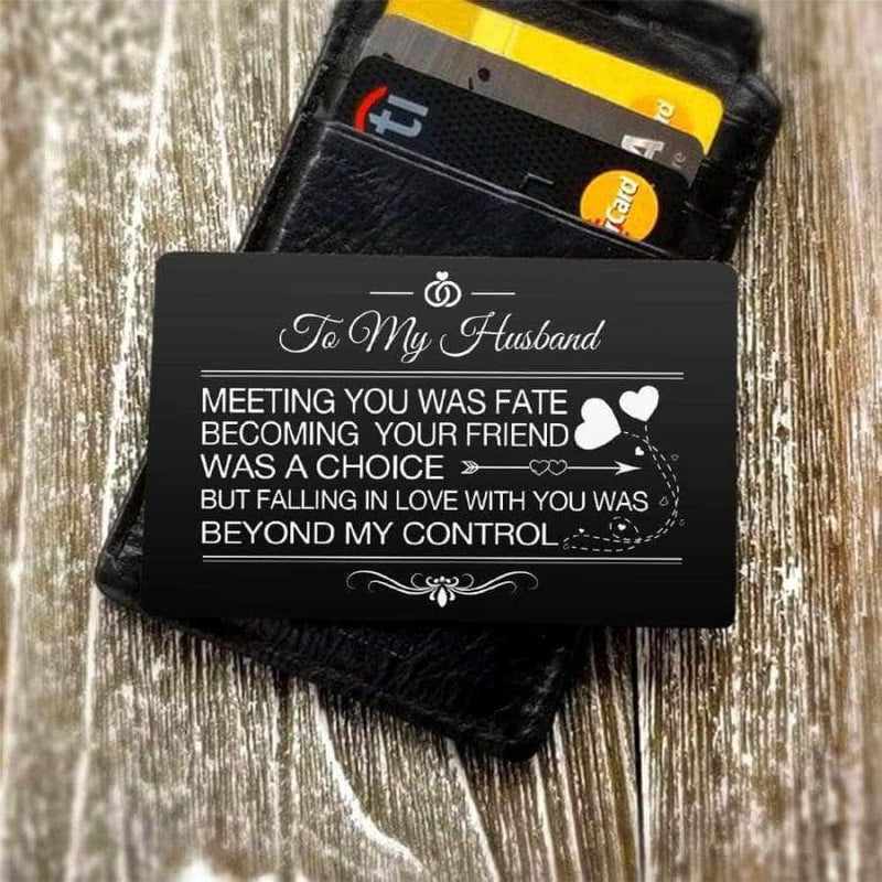 ENGRAVED BLACK WALLET INSERT CARD- MY BOY - I LOVE YOU - X5431