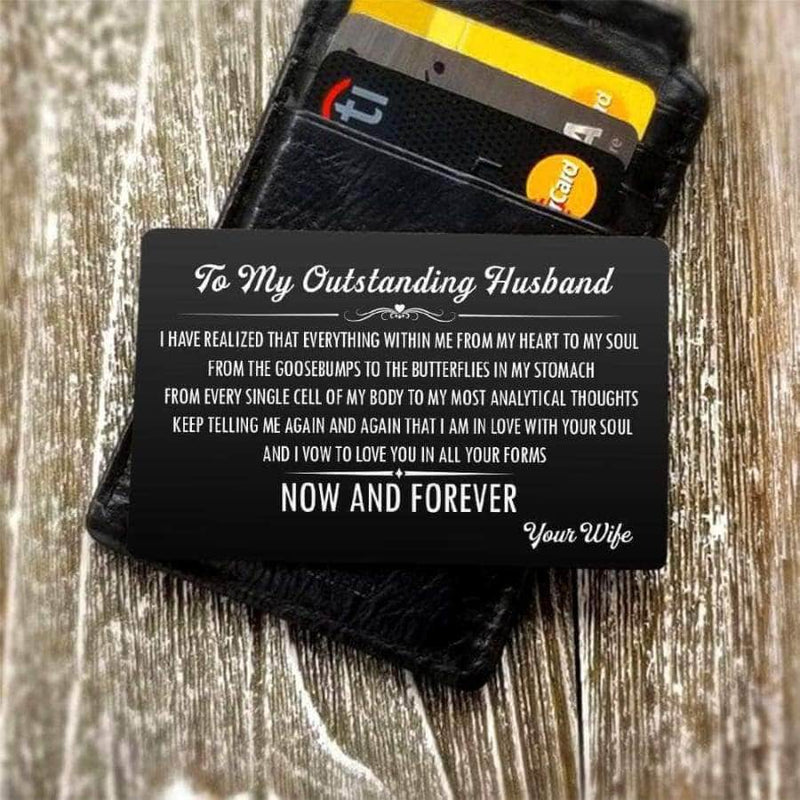 ENGRAVED BLACK WALLET INSERT CARD- MY BOY - I LOVE YOU - X5432