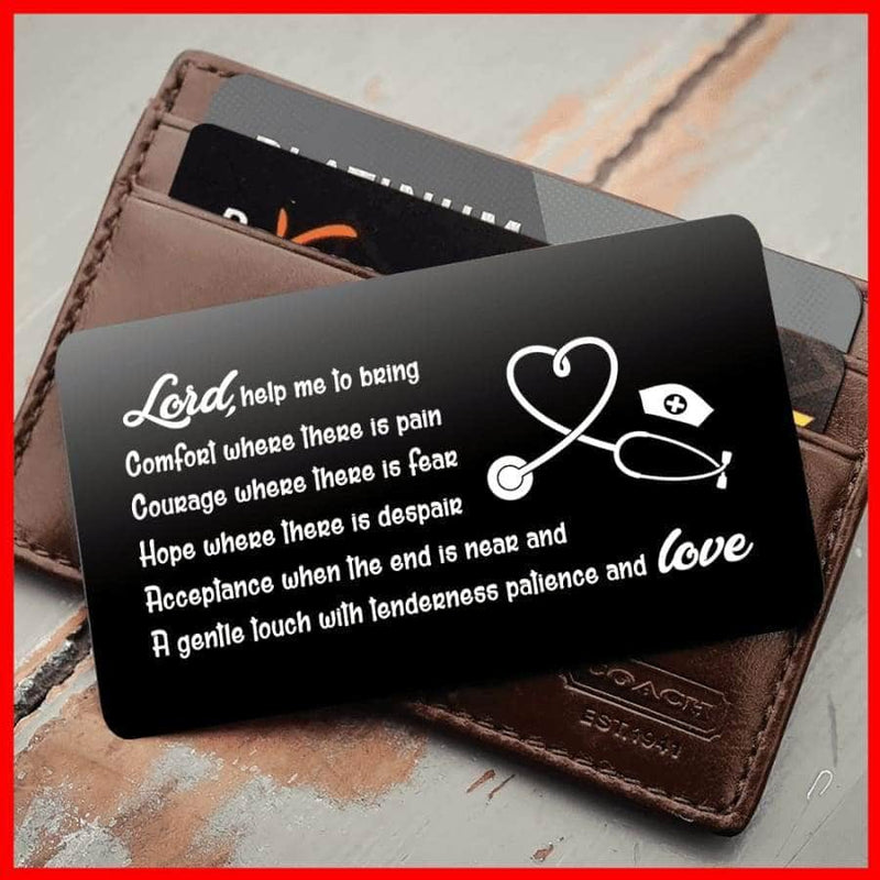 ENGRAVED BLACK WALLET INSERT CARD- PERFECT GIFT FOR YOU - X5416