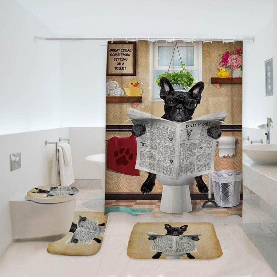 French bulldog Bathroom Set