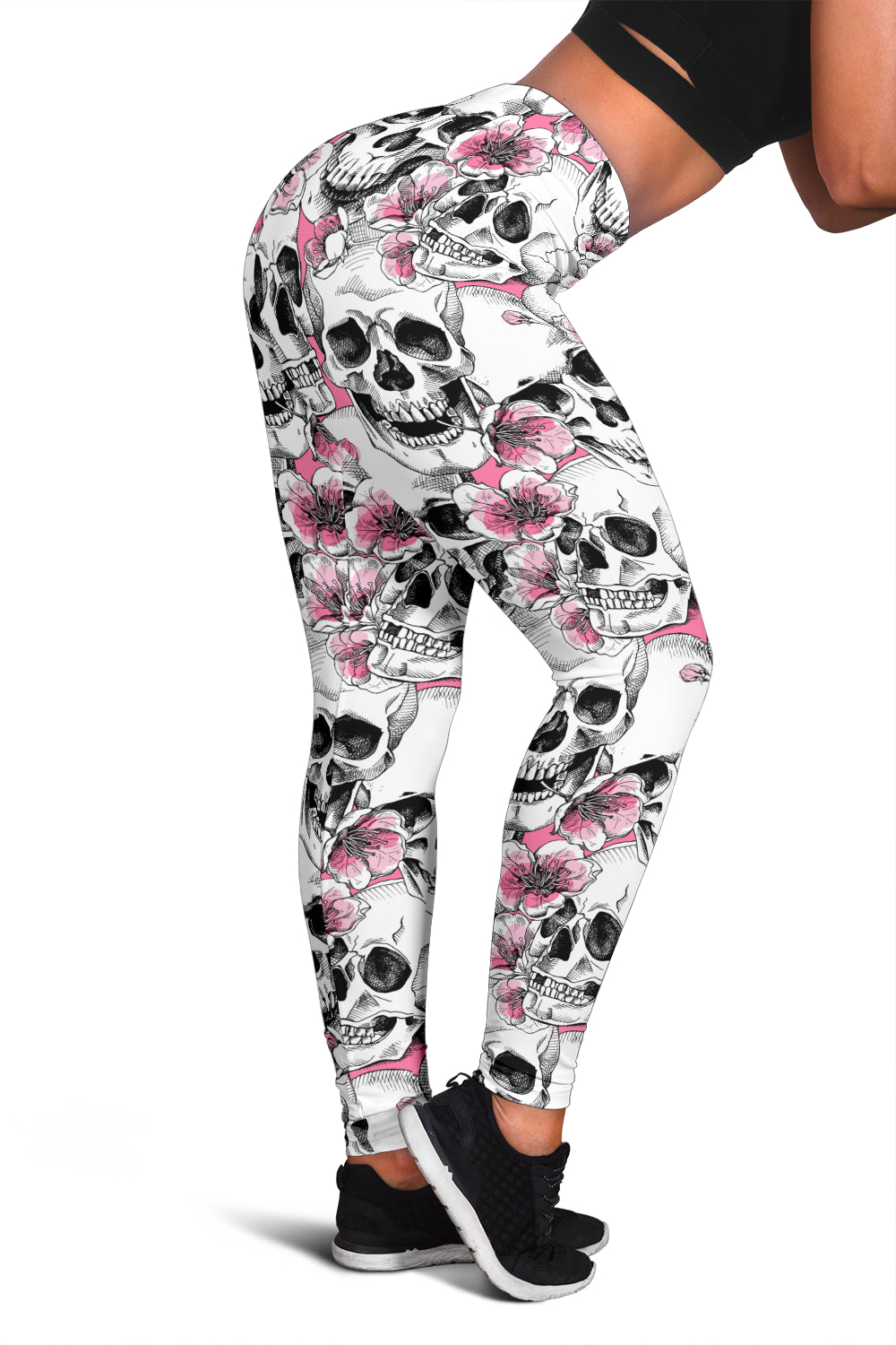 Skull pastel pink Flower Leggings
