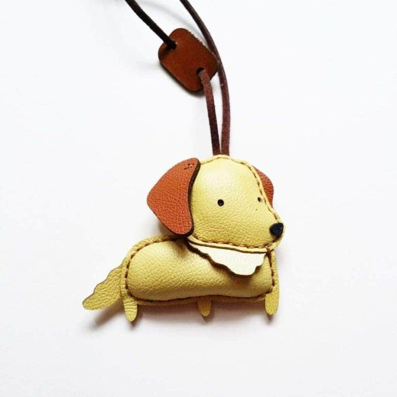 GOLDIE HANDMADE LEATHER CHARM