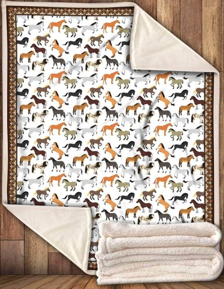Horse Beautiful Blanket Premium