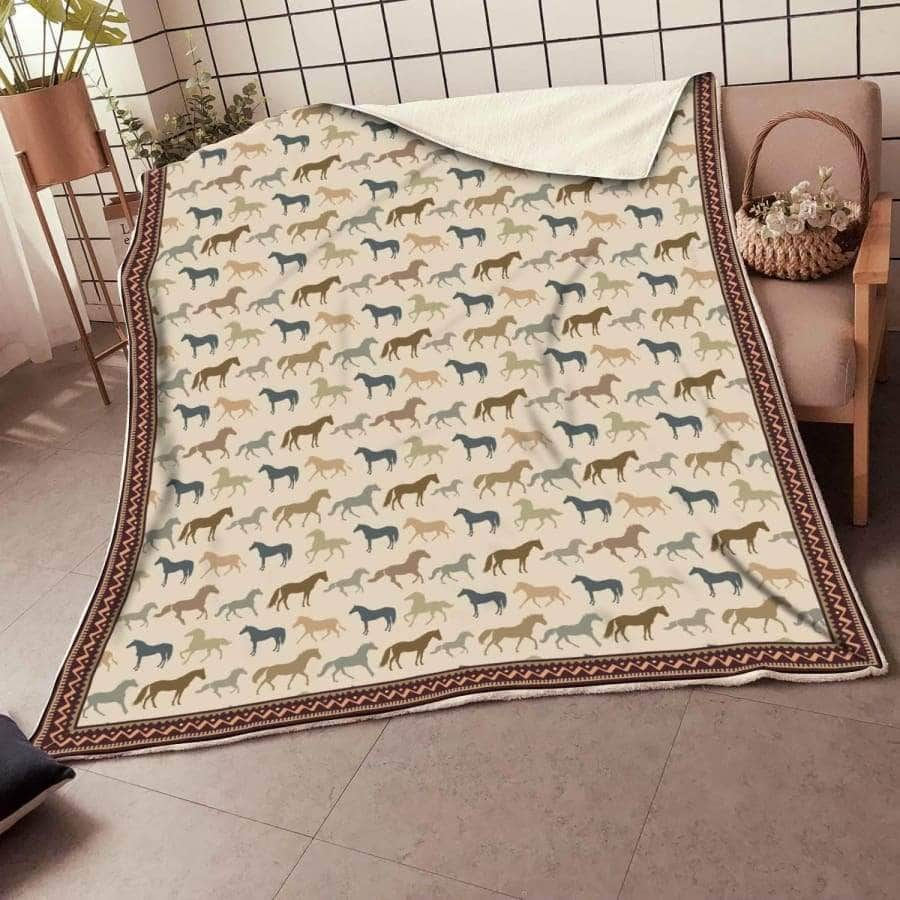 Horse Brown 2 Blanket