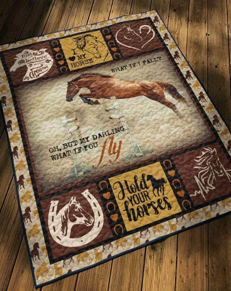 Horse Jumping Quilt