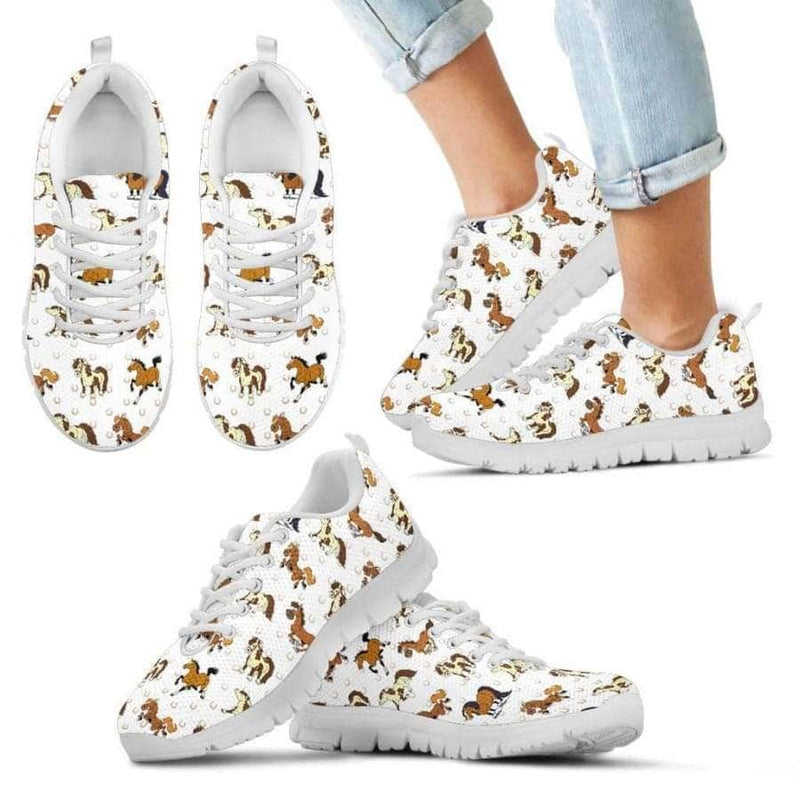 Horse Kids Sneakers (White)
