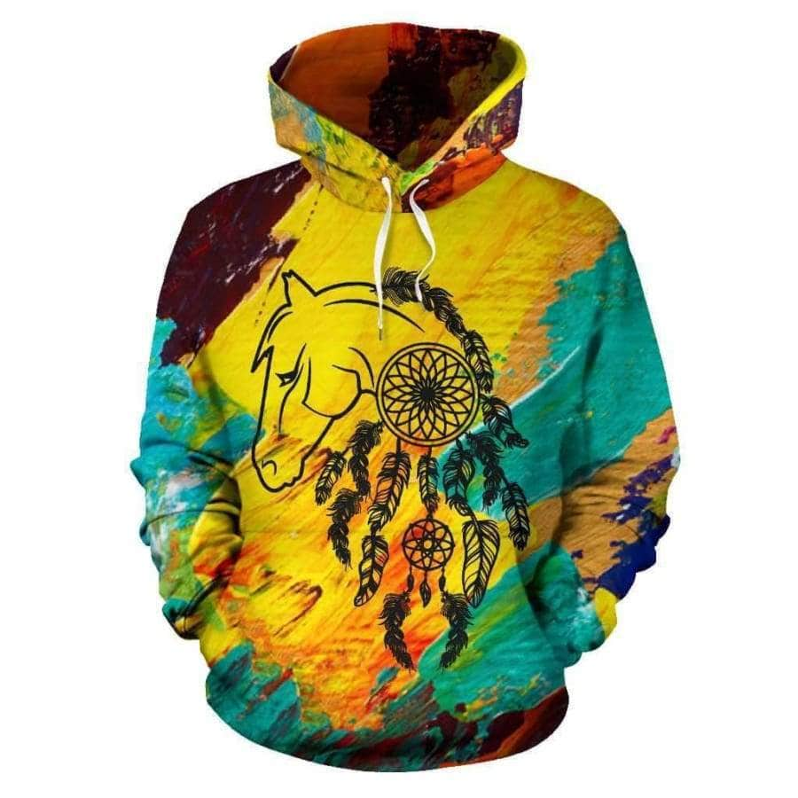 Horse Native All Over Hoodie