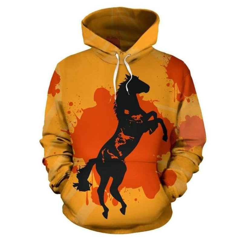 Horse Paining All Over Hoodie