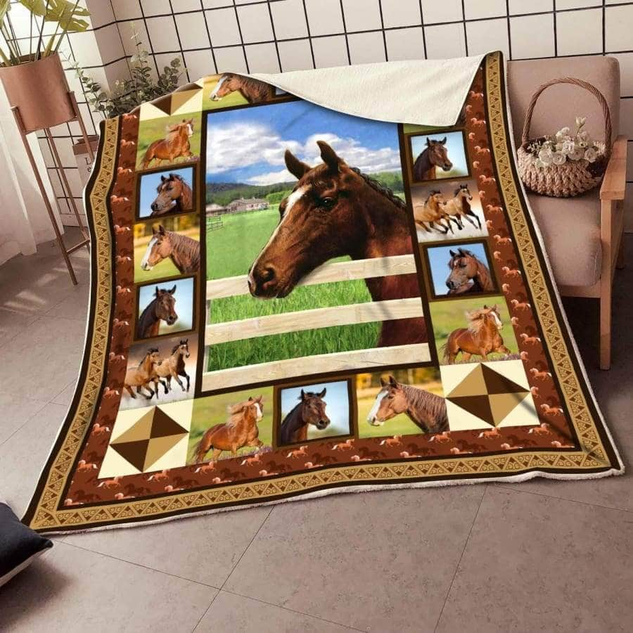 Horse Premium Blanket Beautiful