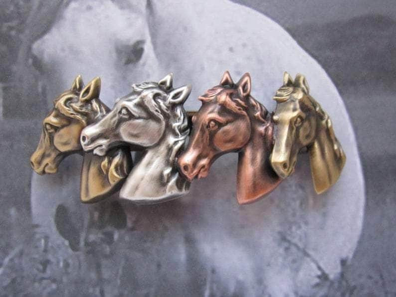 Horses French Barrette