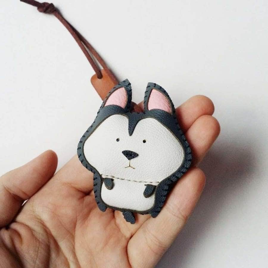 Huskie Handmade Leather Charm