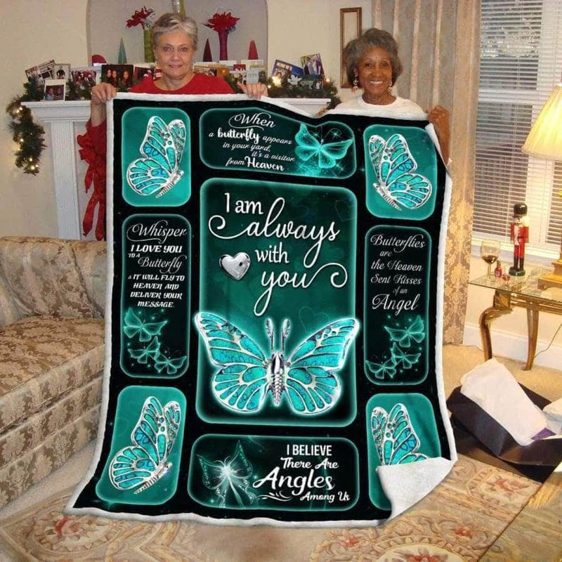 I am always with you Butterfly Silver Blanket