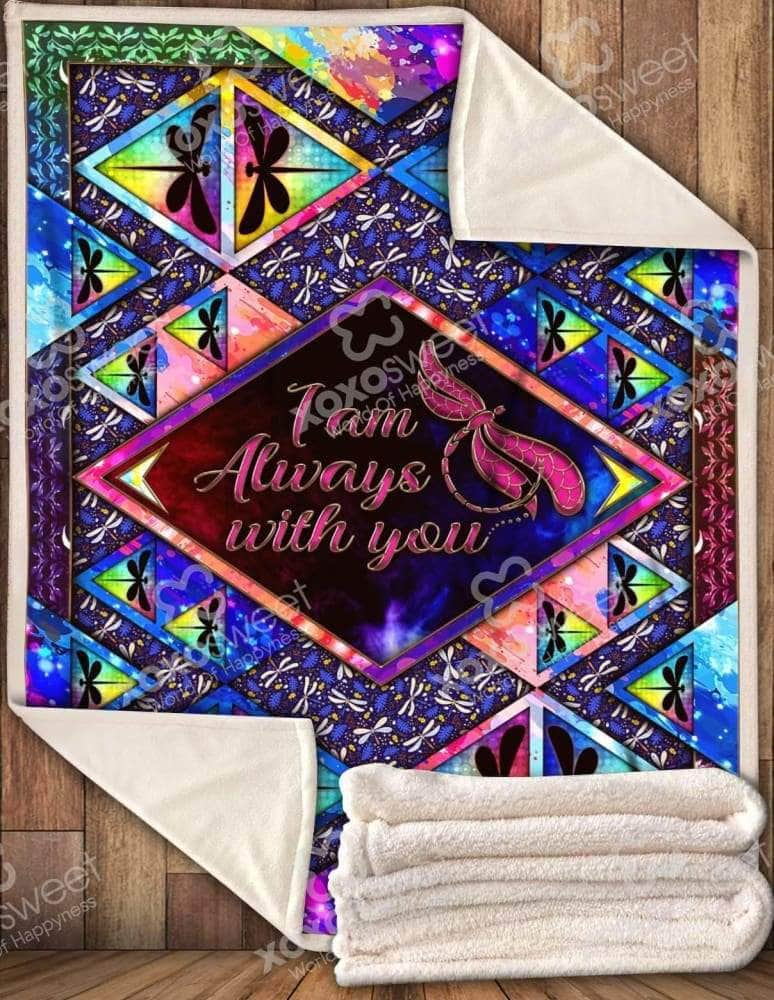I am Always With You Dragonfly Blanket