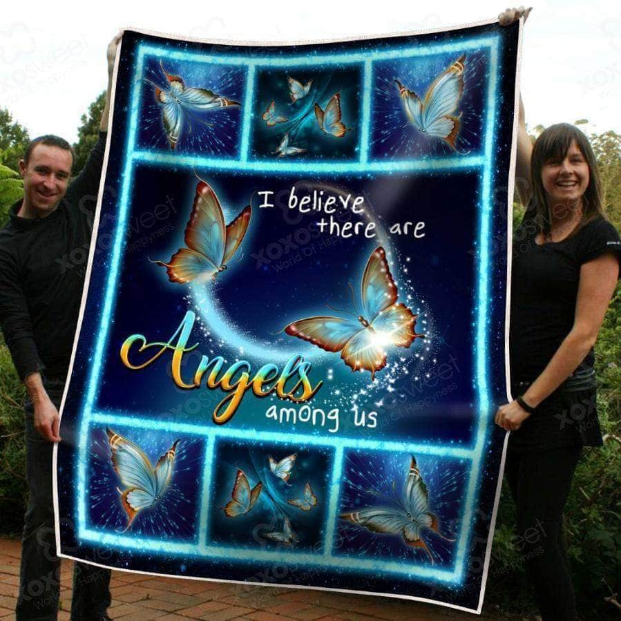 I believe there are angels among us - Premium Blanket