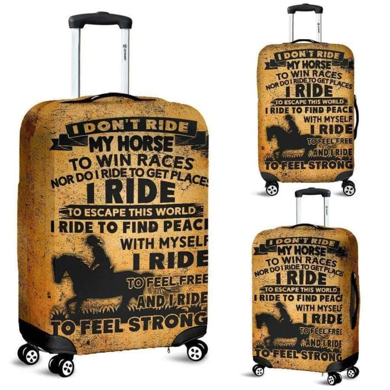 I Dont Ride My Horse Luggage Cover