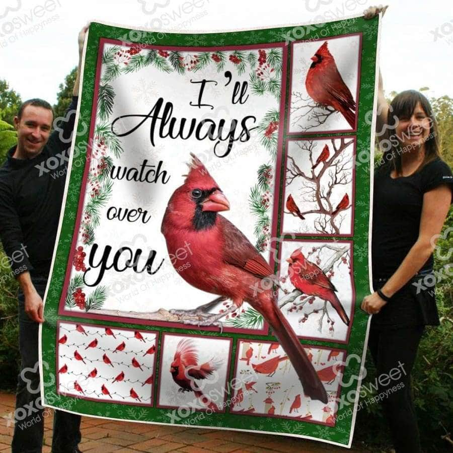 I'll Always Watch Over You Cardinal Blanket