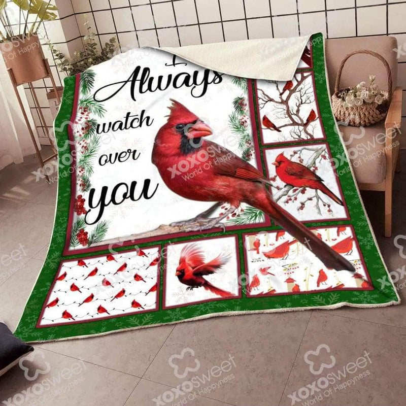 Ill Always Watch Over You Cardinal Blanket