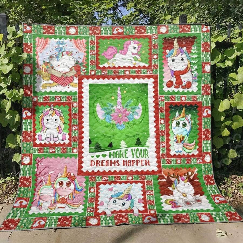 Make Your Dreams Happen - Unicorn Quilt