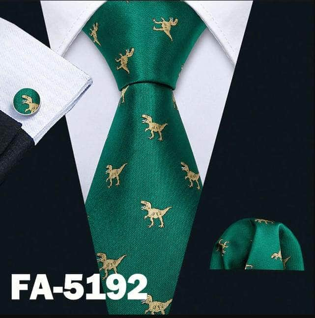 Mens Ties Dinosaur Pattern