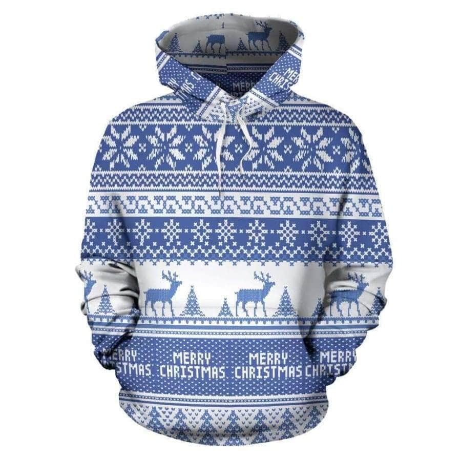 Merry Christmas All Over Hoodie