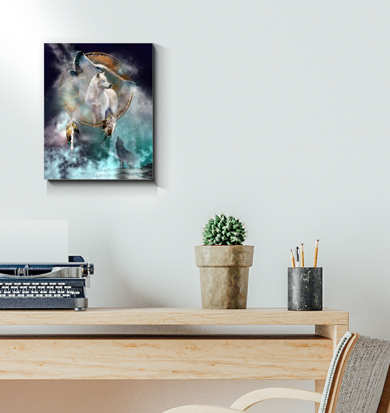 Native White Wolf Canvas