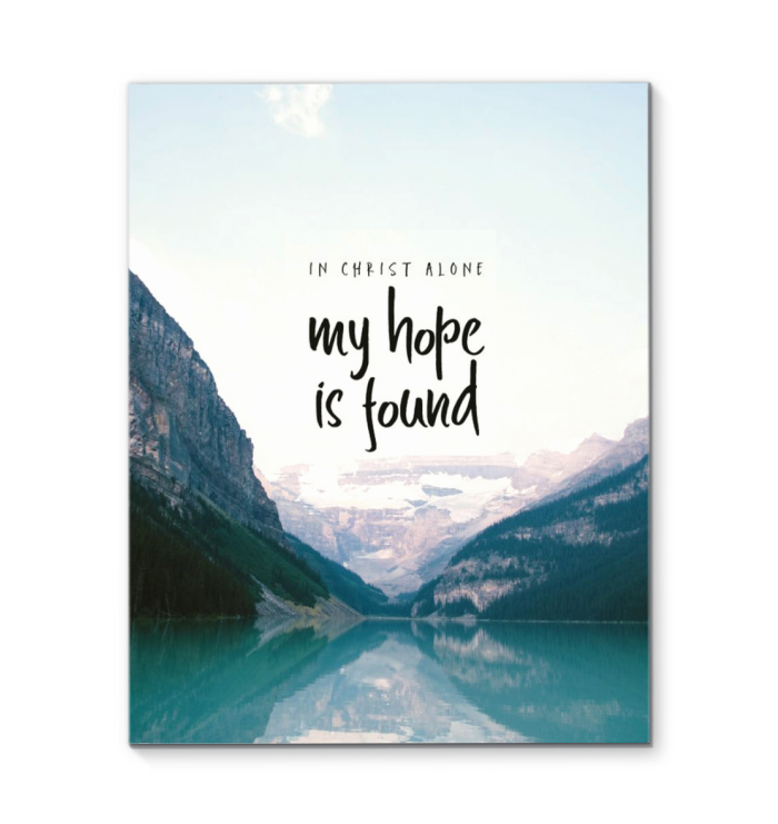 In Christ Alone My Hope Is Found Christian Canvas