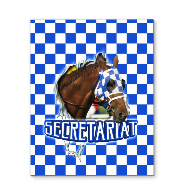 Secretariat Horse Racing Canvas