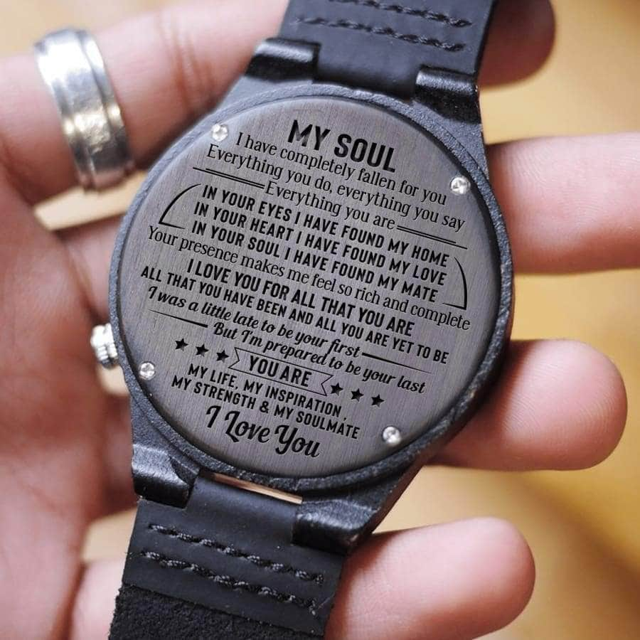 My Soul I Love You - Wooden Watch
