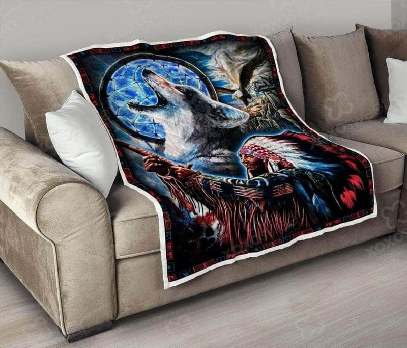 Native American Wolf Eagle Quilt