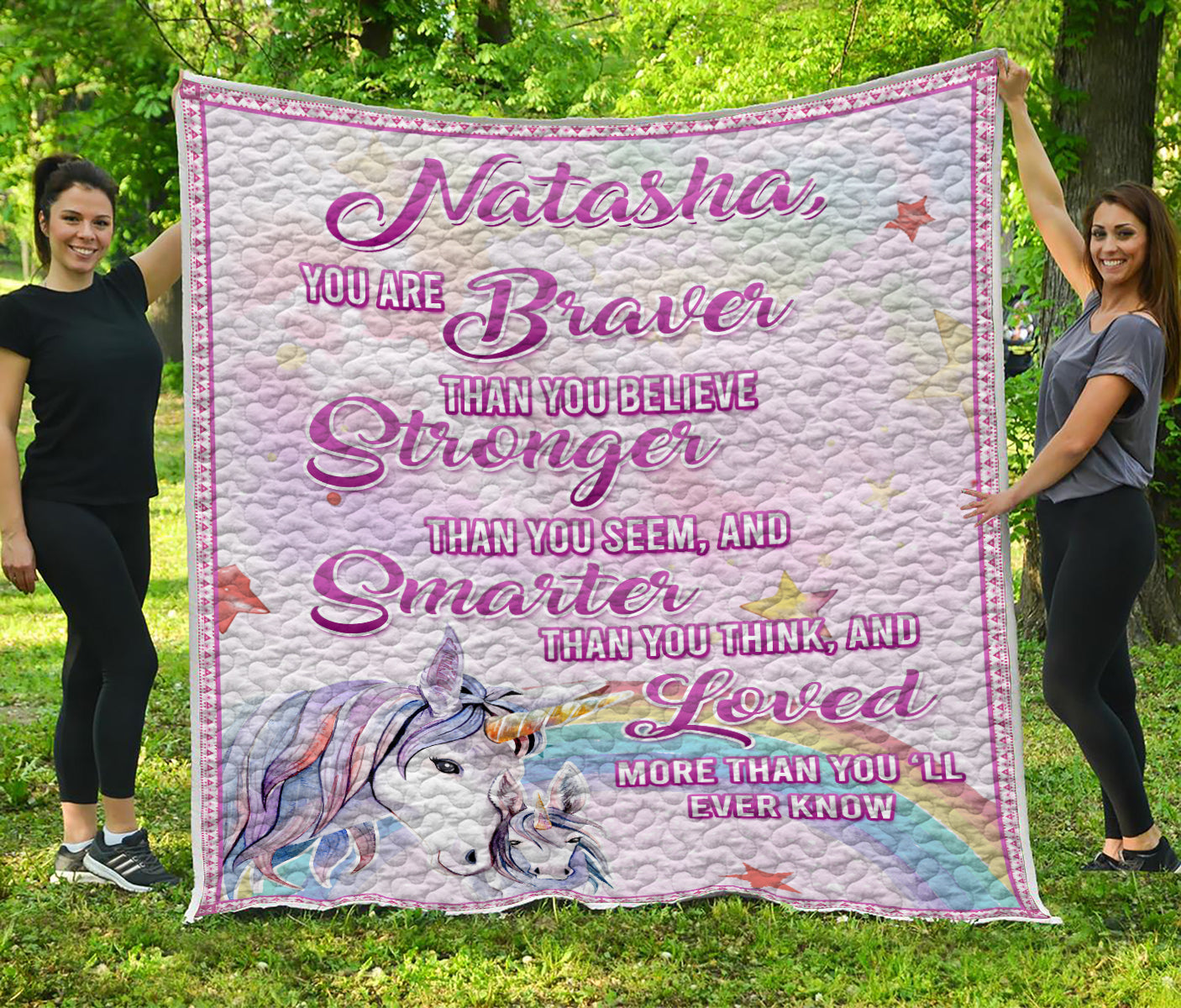 Personalized Unicorn Quilt for girls