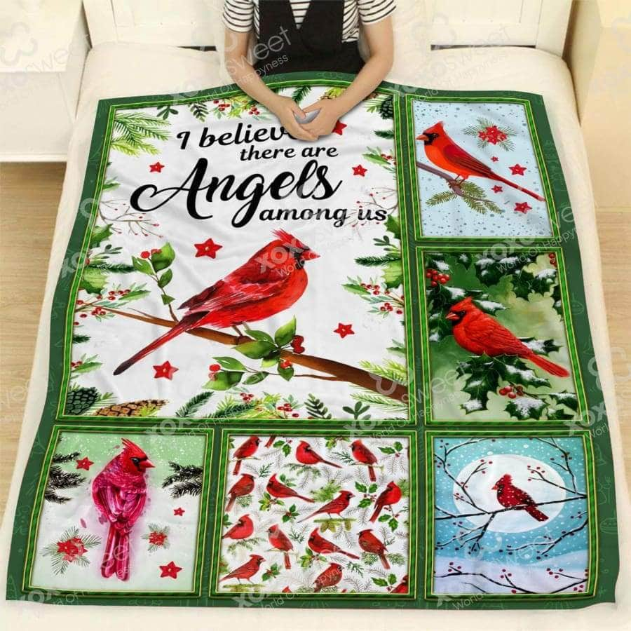 Cardinal Bird Angel Blanket