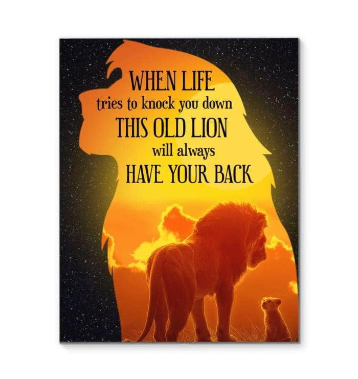 Old Lion Canvas