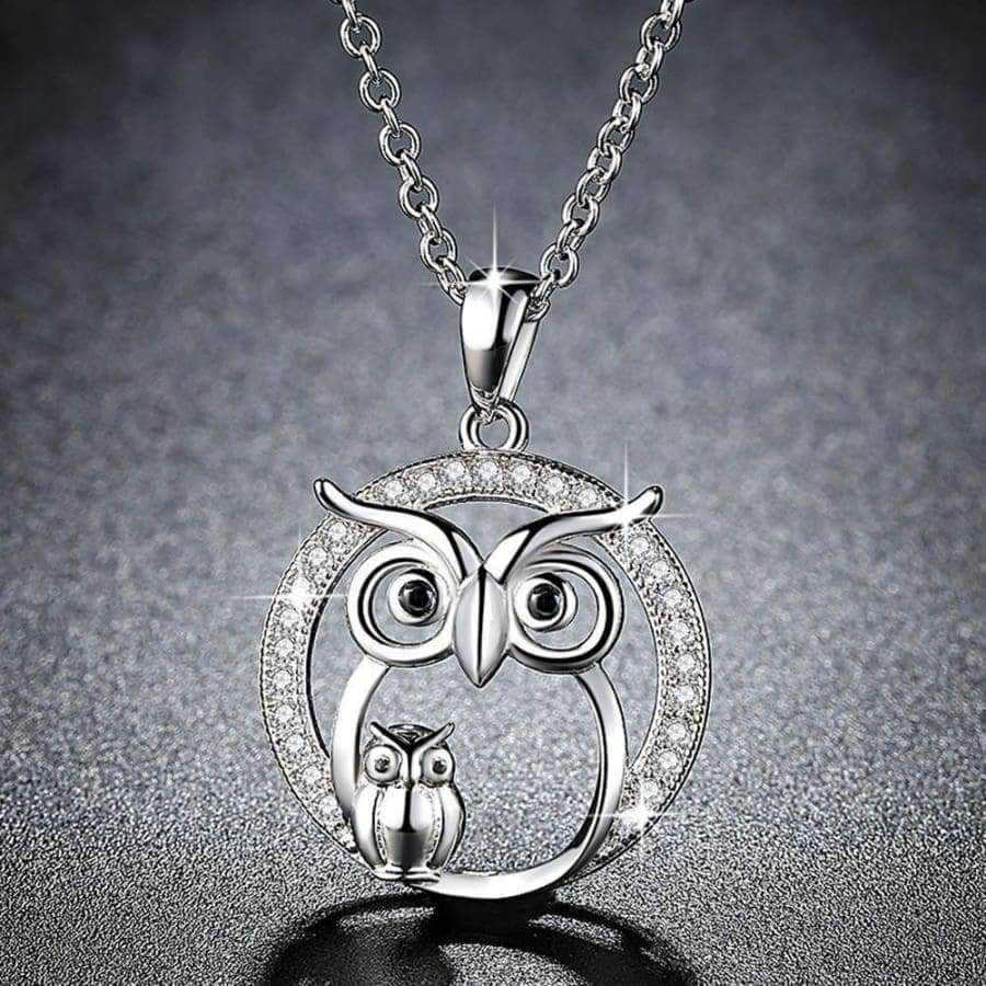 Owl Mother & Kid Necklace