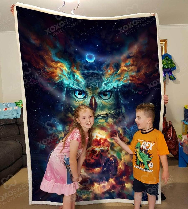 Owl Water Color Blanket