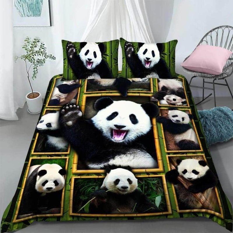 Panda 3D Bedding Set
