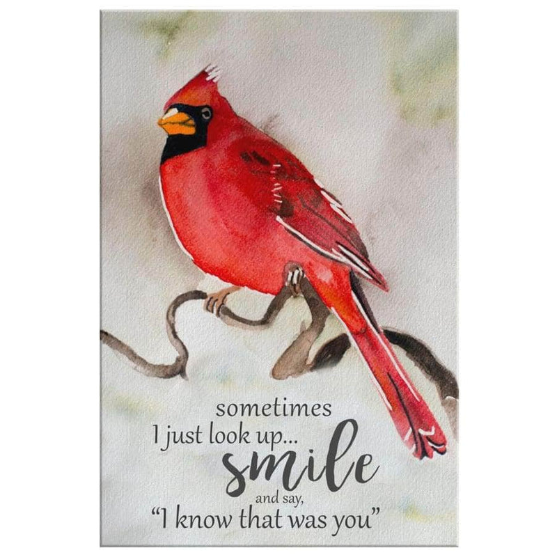 PB - Cardinal smile canvas
