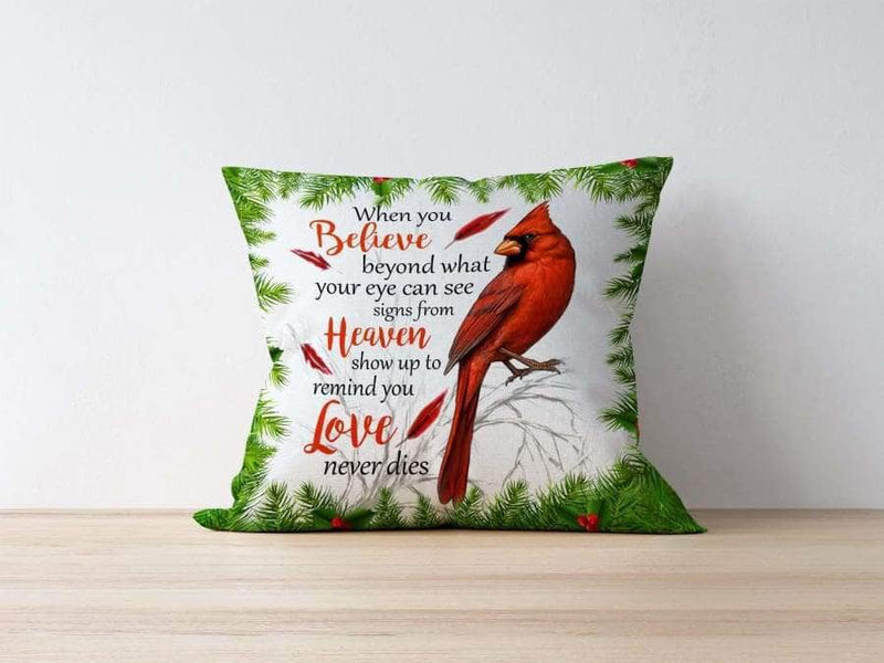 Pillow Cardinals Appear