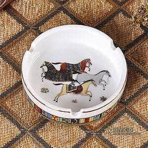 Porcelain ashtray Horse design