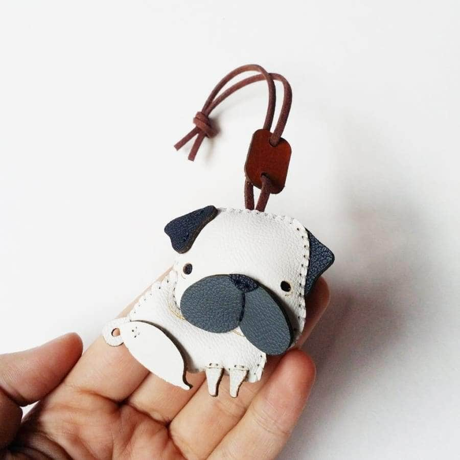 PUGIE HANDMADE LEATHER CHARM