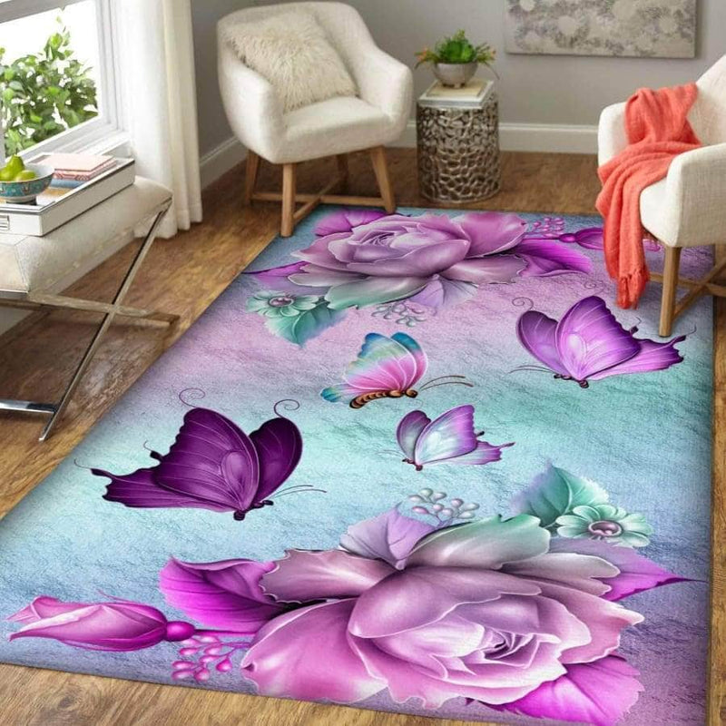 Purple Butterfly - Area Rug