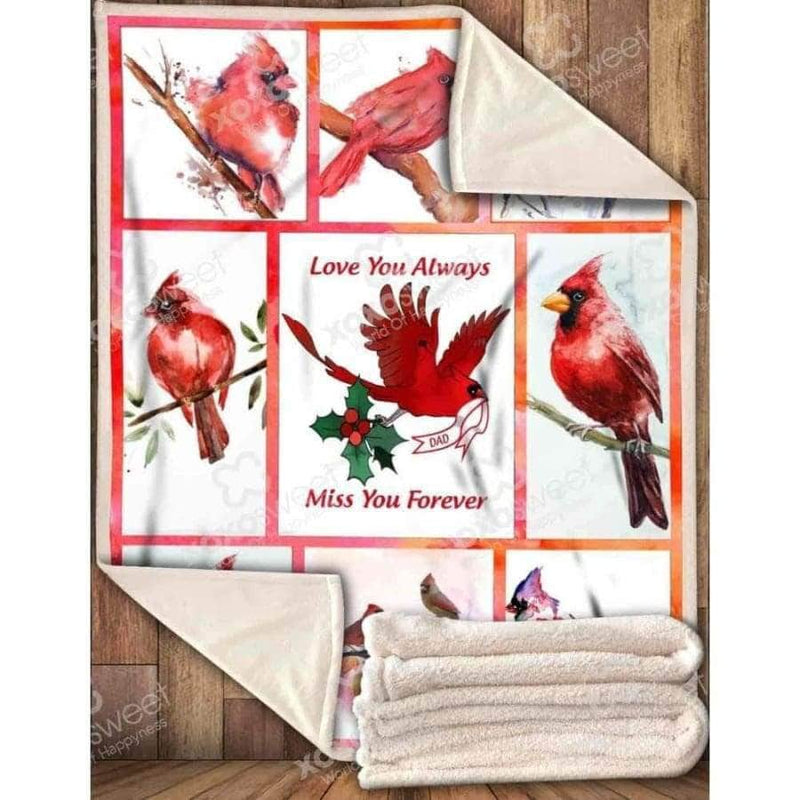 Red Bird Blanket Miss you forever Dad