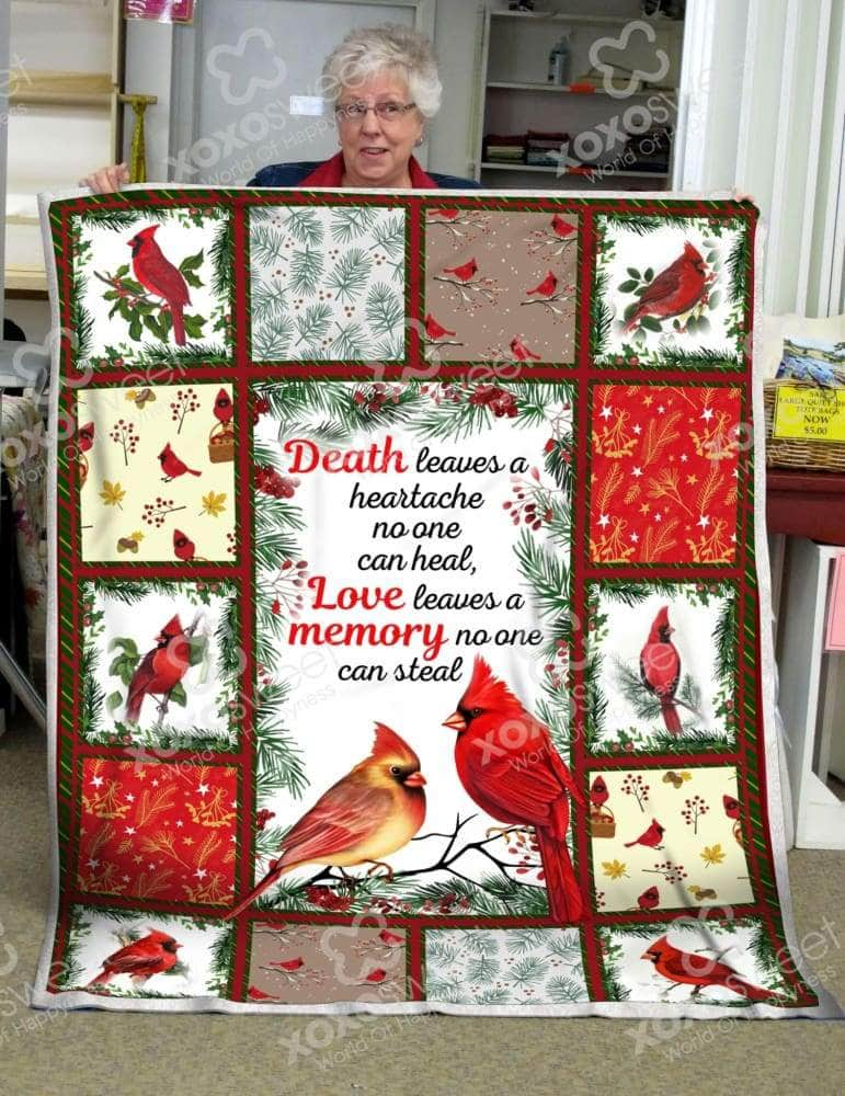 Red Bird Love leaves a memory blanket