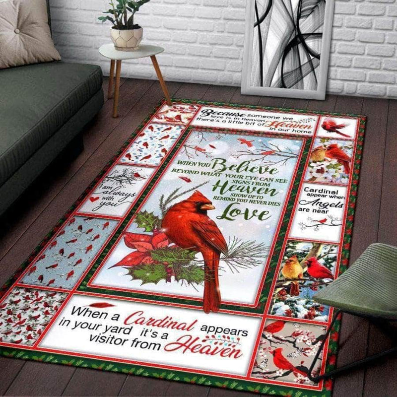 Red Bird Rug When you believe