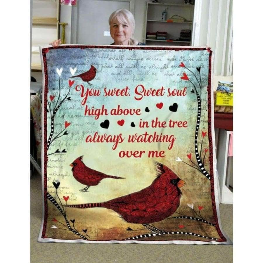 Red Bird Sweet Soul blanket