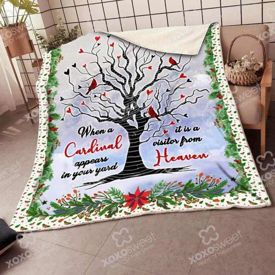 Red Bird Tree Blanket
