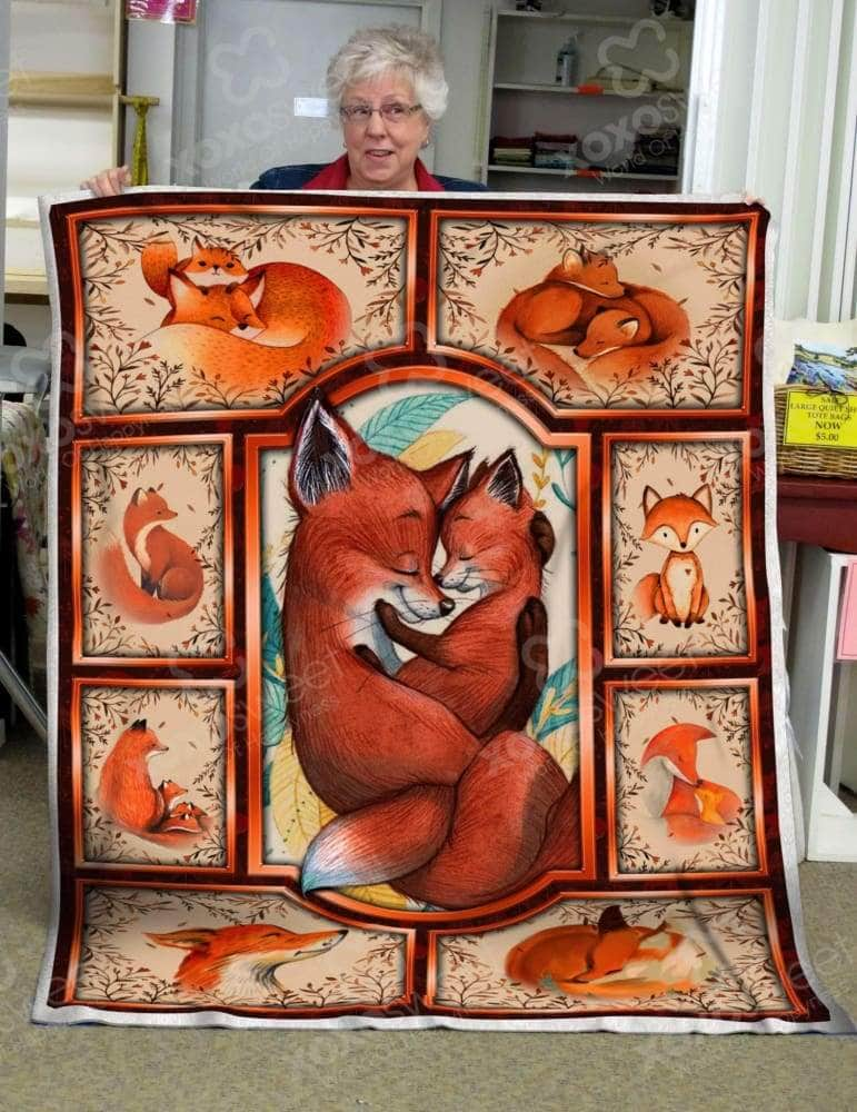 Red Fox Mama - Blanket