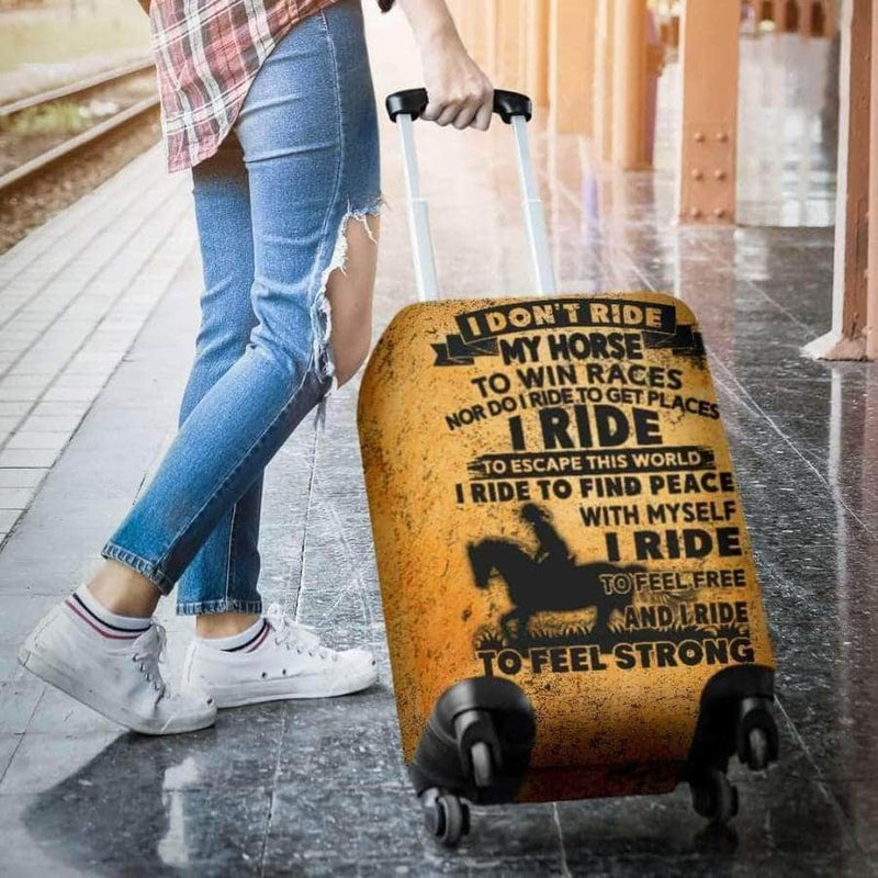 RIDING HORSE TO ESCAPE THIS WORLD LUGGAGE COVERS