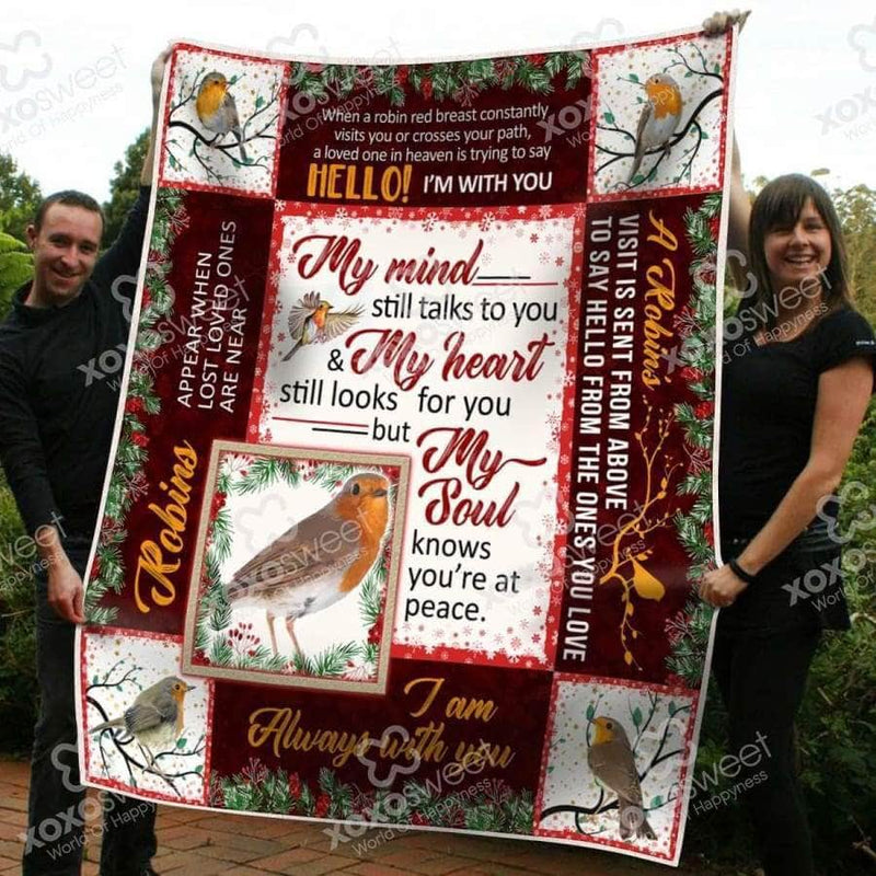 Robin Bird Blanket